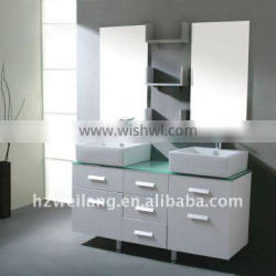Modern oak wood bathroom cabinet