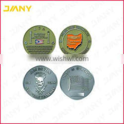 Cheap Custom Made Metal Silver Plated Laser Engraving Coin