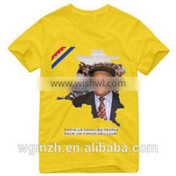Election campaign t-shirt with picture printing