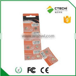 1.55V LR59 battery, Alkaline button cell LR726,197, AG2 non rechargeable battery