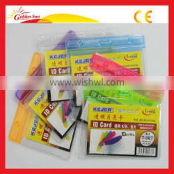 Transparent Clear Soft Plastic Id Card Holders