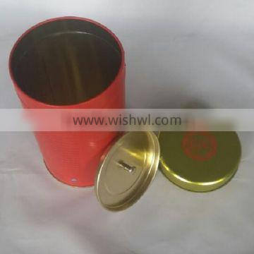 Cute Round Tin Can For Candy/Coffee/Tea