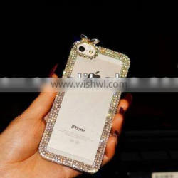 NuvoFashion Deluxe Aluminum Frame with Luxury Bling Crystal Diamond Case for Samsung Galaxy S4 i9500