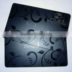One color plastic business card with uv printing