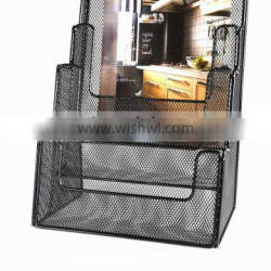 metal mesh office desk 4 layer file tray