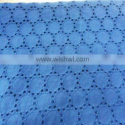 chain ring design 100% cotton woven embroidery fabric