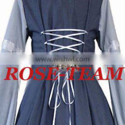 Rose Team-Free Shipping Custom-made Black And White Beautiful Dress Medieval Renaissance Victorian Dress Sexy Carnival Halloween