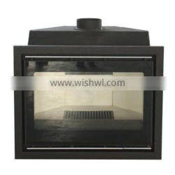 Insert wood burning stove OEM Cast Iron 16KW fireplace with metal cover CEcertificate