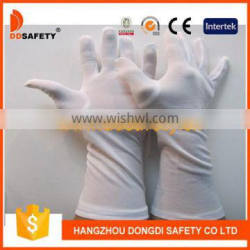 DDSAFETY 100% White Nylon Cotton Working Gloves With Long Cuff