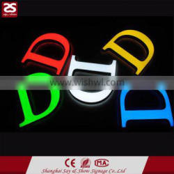 Factory Direct Sale Top Quality front and side light plastic acrylic led alphabet letter