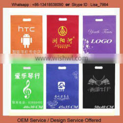 Custom Printed LOGO Non woven die cut bag with Carry Hole