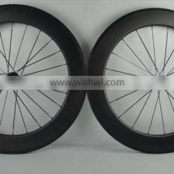 2016 new trend dimpled surface full carbon road bicycle wheels 700c 80mm high 25mm wide U shape clincher 80C-25