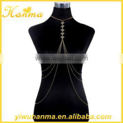 Factory direct Jewelry fashion women body chain harness necklace