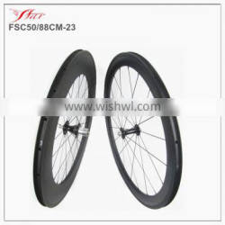 King carbon wheelset clincher 50mm 88mm road racing bicycle wheelset high quality handbuild chinese carbon clincher rims