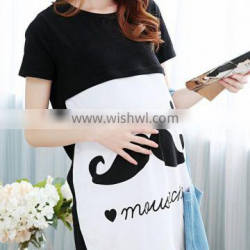 W40047K 2016 summer new style loose pure cotton maternity dress for women