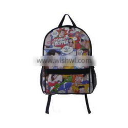 New arrival best selling 2016 china supplier small cartoon canvas lovey backpack kids school bag