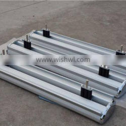 outdoor rolling cart banner stand with spring and heavy iron foot