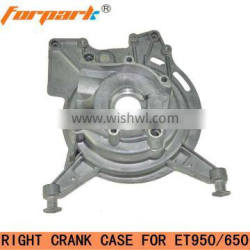 ET950(650) spare parts right crankcase for Gasoline Generators