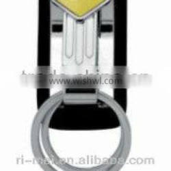 Customized hot-sale high quality good looking double ring keychain