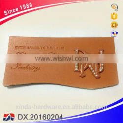 fashion Customizable logo labels with metal bage