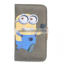 Case For iPhone Print Minions Canvas Phone Case For iPhone 6