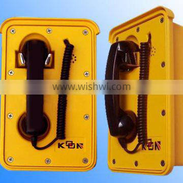 Analogue telephone designed and developed for usages in the most rugged ambient conditions KNSP-10