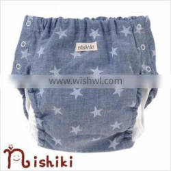 infant nappy japanese high quality wholesale products baby clothe diaper cover polyester 100% made in japan cute star pattern