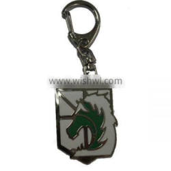 New&Hot Attack on Titan Badge Of The Military Police Key Ring/Chain Silvery