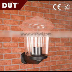 different types hardly breakable acrylic outdoor plastic wall light fixture