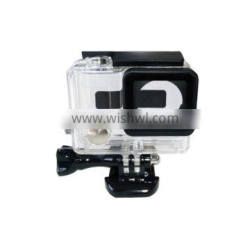 Telesin new arrival waterproof plastic housing case for Go pro Hero3+/4, Transparent color