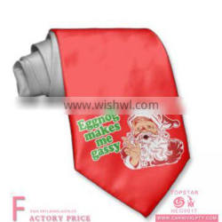 Christmas Decoration Santa ClausTie 100%Silk Fabric For Tie