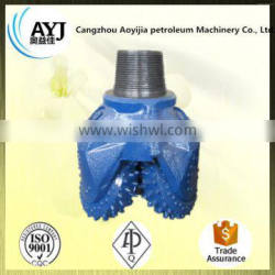 TCI steel tooth tungsten carbide three-cone bit for Coal mining drill