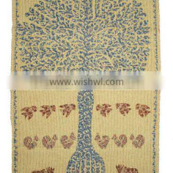Tree of life embroidred tapestry wall hanging