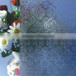 3mm clear patterned flora glass