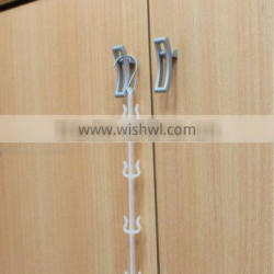 plastic strip merchandising strip for easy loading products in supermarket