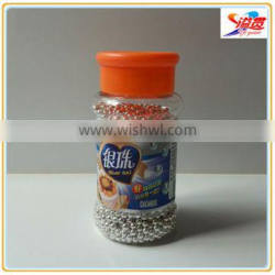 Edible silver sprinkles for decorating cake