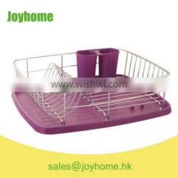 new design chrome plated iron wire single tier dish rack