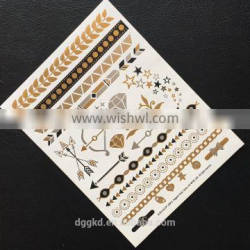 gold stamp foil tattoo sticker wings design tattoos jewelry tattoos for woman/intimate tattoos water transfer temporary tattoos