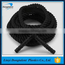 OEM black color fitness battle rope for American market with cheap price