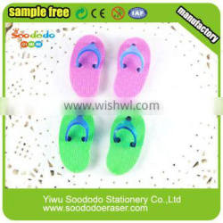 Funny slippers shaped erasers