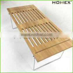 Commercial bamboo kitchen vegetable storage rack Homex-BSCI