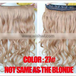 hot sell new design fashionable 30cm clip in colored hair extensions