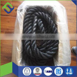 1.5'' * 30' Black Polyester Battle Rope Power Training Ropes For Fitness Physical Training