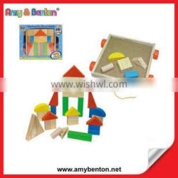 2015 Intelligence Wooden Toys Building Blocks for Kids