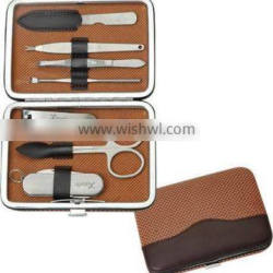 7pcs Pedicure item in PU case Pedicure set with porket knife