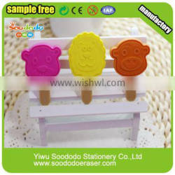 TPR Material 3D erasers ice cream shaped