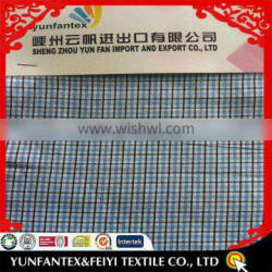 2015 fashion latest new Italy design pattern cheapest yarn dyed check cotton south African shirt fabric