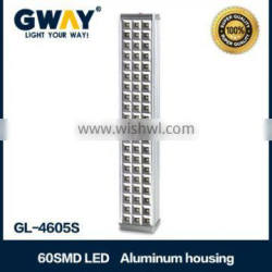60 smd emergency rechargeable lighting with aluminum house