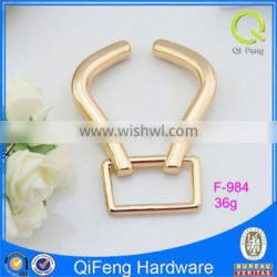 F-984 gold metal ornament fashion hardware for bag fast delivery factory price