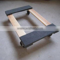 heavy duty capet moving wood furniture dolly, tool cart, garden cart
